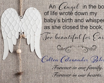Infant loss gift, miscarriage loss, pregnancy loss gift, graphic design art