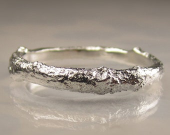 Men's Twig Ring in Sterling Silver, Men's Wedding Band