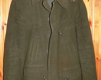 Vintage 1960/70s german men's  loden hunting jacket Lodenjoppe EU 50