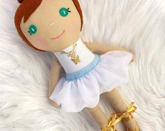 Ballerina Rag Doll, Felicie doll from Leap, Ballerina Doll, Toddler Girl Gift, Dance Recital Gift for Girls, Ballerina Toy, Ballerina Gift