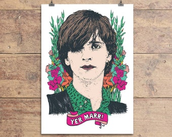 Johnny Marr - The Smiths - Greeting Card - Yer Marr - 80s Indie Greeting Card - Funny Birthday - Friendship Card