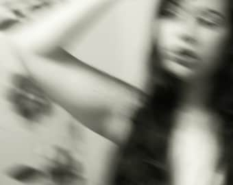 Blurry Girl - Dark Beauty Photography, Black and White Photography, Abstract Photography, Self Portrait, Beauty, Conceptual Photography