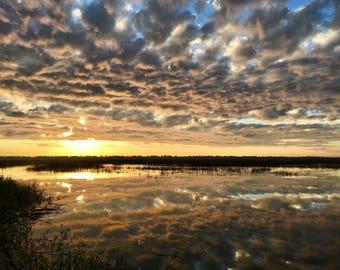 Sunrise over the salt marsh on St. Simons Island