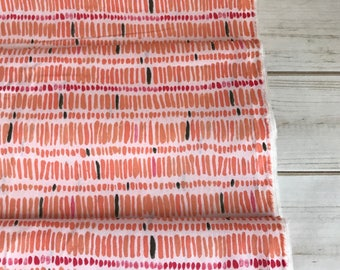 Mosey Coral ~ Gather Collection by Juliet Meeks for Cloud9 Fabrics 100% Organic Cotton