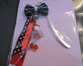 Sweet black and Red fairy bookmark