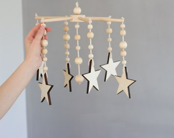 Crib mobile, nursery mobile, star decor, baby mobile, nursery decor, baby nursery, new baby, baby girl gift, baby boy gift, baby shower gift