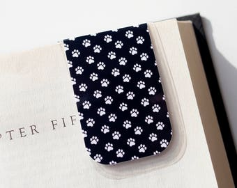 Magnetic Bookmark, Paw Print Bookmark, Animal Lover Gift, Paw Print Gift, Valentines Day, Easter Basket, Gifts Under 5, Mothers Day