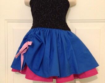 Boutique Quality Handmade Everyday Princess Anna Blue and Pink Inspired Dress sizes newborn - girls 8