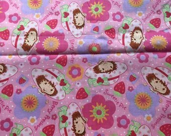OOP Spectrix pink strawberry shortcake floral print Quilting cotton, quilt fabric, cotton fabric, by the yard, 100% cotton, sewing, quality