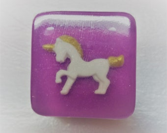 Unicorn Birthday -12 Soaps - bath and beauty- custom color - DIY bags and ribbons