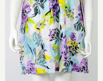 ON SALE COTTON Gauze Dress: Gauze Mini Dress / Cotton Mini Dress / Floral Summer Dress / Sundress / Dress / Mini Dress / Hippie Dress / A li