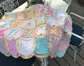 Hand-stitched Quilt for Little Girls