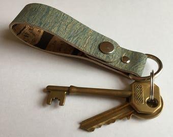 Animal Friendly Vegan Vegetarian Cork Faux Leather Belt Loop, Keychain & Key Ring