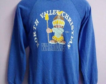 Vintage Copyright 1991 Sweatshirt North Valley Christian Valley by Precious Moments Incorporated 50 Cotton 50 Acrylic MADE IN USA