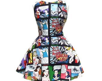 Comic Dress  Skater  Dress