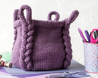 Knitting Pattern ~ Entangle Basket ~ Knitting Pattern