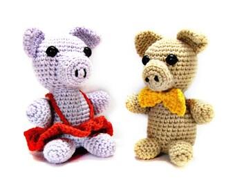 Amigurumi pigs, Pig amigurumi, Amigurumi animals, Crochet pigs, Crochet amigurumi, Stuffed toy, Pig toy, Plush pig, Farm animals, Soft toy