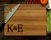 Personalized Cutting Board, Custom Wedding Gift, Initial Monogram, Host Gift, Christmas Gift, Kitchen Decor, Engagement, Anniversary, Xmas