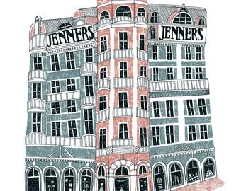 Edinburgh Jenners Illustration Limited Edition Print