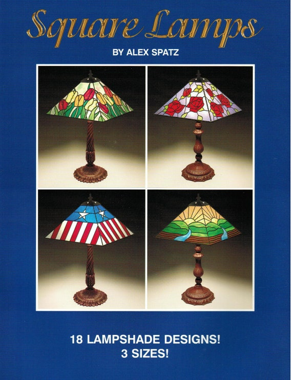 Square lamps stained glass lampshade pattern book 18 patterns from square lamps stained glass lampshade pattern book 18 patterns from missourijewel on etsy studio aloadofball Images