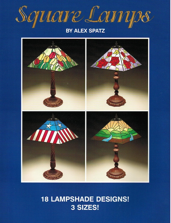 Square lamps stained glass lampshade pattern book 18 aloadofball Images