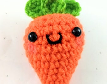 Kawaii Crochet Carrot Amigurumi with Kawaii Face