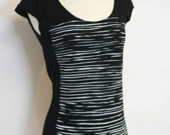 Washboard Black Scoop Neck