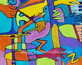 Jazz! - 11.5 x 11.5 signed and limited reproduction on polymer