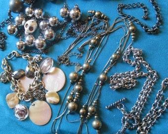 Steam Punk Lot Of Necklace and Bracelets