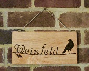 Medium Custom Wood Burned Sign