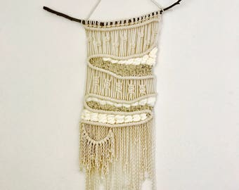 Large Woven Neutral Macrame Wall Piece