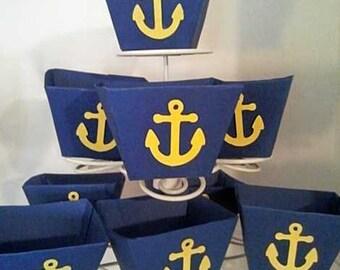 Nautical  Theme Anchor Favor Boxes