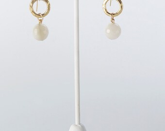 Moonstone and 24K Gold Vermeil Earrings