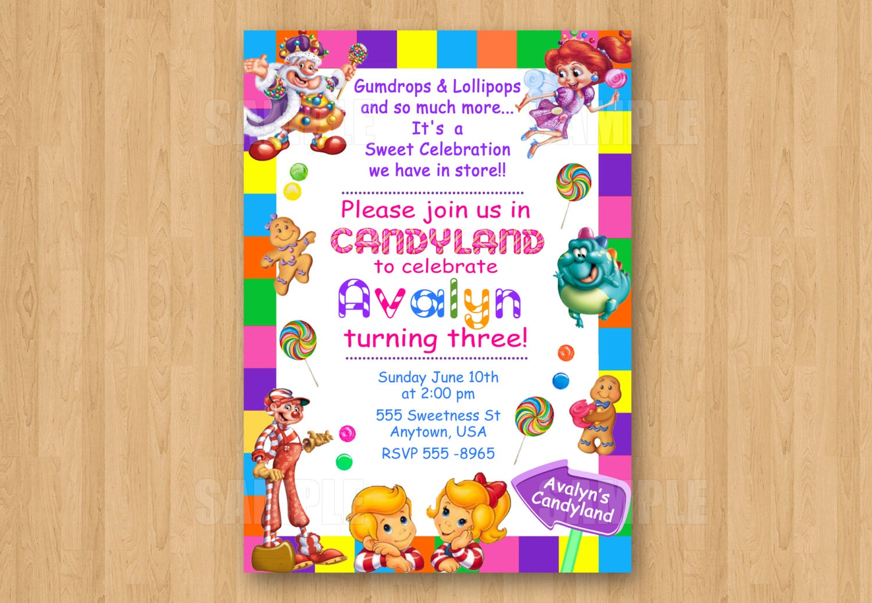 candyland invitations - Roho.4senses.co
