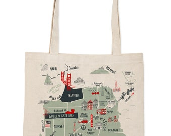 San Francisco Map Everyday Tote