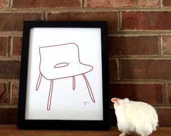 Modern Red Chair