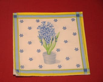 "paper flowers ""hyacinth"" theme towel"