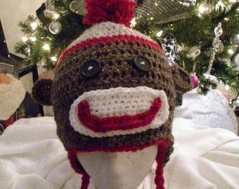 Teen/Adult sock monkey hat