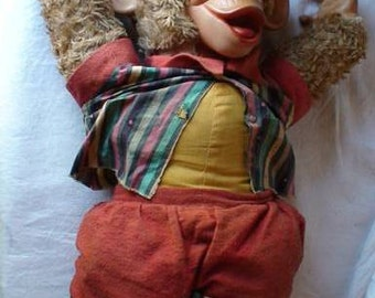 Midcentury Stuffed Monkey 1950s 1960s