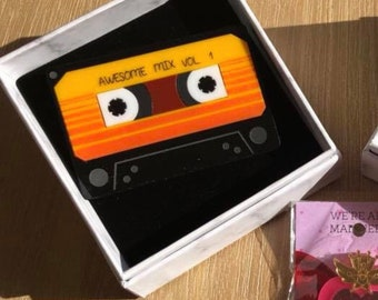 PREORDER Awesome mix tape brooch