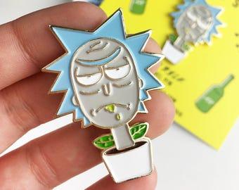 I Am Rick Enamel Pin