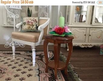 SALE Miniature Radner Side Table, Walnut Table, Dollhouse Miniature, 1:12 Scale, Dollhouse Furniture, Mini Table