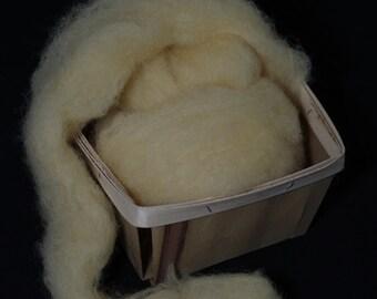Hand-dyed wool roving for spinning,  felting or needle-felting SUNSHINE