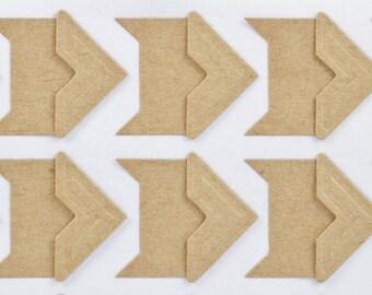 PHOTO CORNER STICKERS (Set of 96) - Kraft Paper Photo Corner Sticker Set (2cm x 2cm)