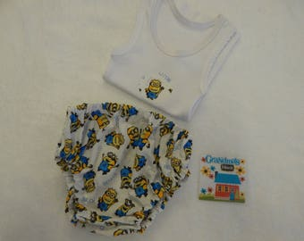 Minions Nappy Diaper Cover Set Size Newborn - More Sizes Available