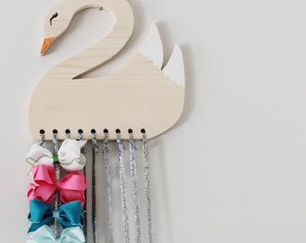Handmade Swan Shaped Bow Holder