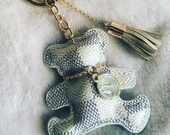 Grey and Gold Key ring