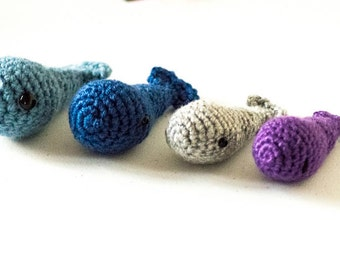Mini Whale Figurines || Crochet Zoo Animal | Whale Art | Miniature Animals | Baby Shower Gift | Easter Gift