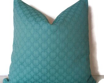 Aqua Pillow Cover, Turquoise Pillow Cover Waverly Full Circle Turquoise 0