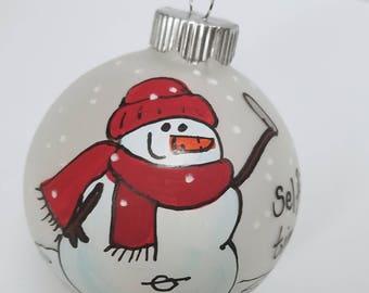 Personalized Ornament - Custom Ornament - Snowman Ornament - Selfie Ornament - Teen Ornament - Christmas Ornament